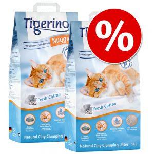 2 x 14 liter till sparpris! Tigerino Nuggies kattströ - Ultra Baby Powder