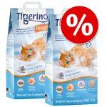 2 x 14 liter till sparpris! Tigerino Nuggies kattströ - Ultra Mixpaket: Baby Powder + Sommaräng