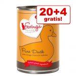 20 + 4 på köpet! Feringa Pure Meat Menu 24 x 410 g - Blandpack (6 sorter)