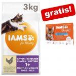 3 kg IAMS torrfoder + 12 x 85 g IAMS Delight på köpet! - Adult Sterilised Chicken (3 kg)