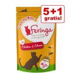 5 + 1 på köpet! Feringa Crunchy Bites 6 x 30 g - Lax