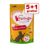 5 + 1 på köpet! Feringa Crunchy Bites 6 x 30 g - Nötkött