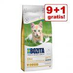 9 + 1 på köpet! 10 kg Bozita Feline kattfoder - Hair & Skin vetefri