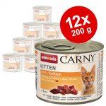 Animonda Carny Kitten 12 x 200 g Nötkött & kalkonhjärta