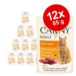 Animonda Carny Pouch 12 x 85 g - Nötkött & kyckling