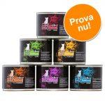 Blandat provpack: 6 x 200 g catz finefood Purrrr på burk - Blandpack