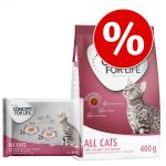 Blandpack: 400 g Concept for Life torrfoder + 4 x 85 g våtfoder - All Cats blandpack