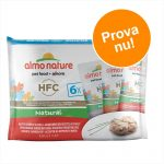 Blandpack Almo Nature HFC Pouch 6 x 55 g - 3 sorters kyckling