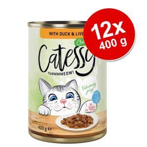 Catessy bitar i sås eller gelé kattmat 12 x 400 g - Kanin & kalkon i sås