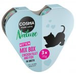 Cosma Nature Kitten Heart-Box 3 x 70 g - 3 olika sorter