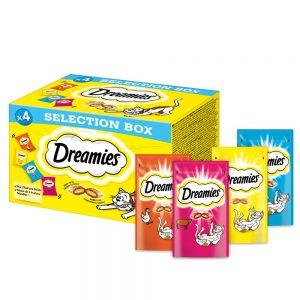 Dreamies Selection Box (kyckling, nötkött, lax, ost) - Ekonomipack: 16 x 30 g
