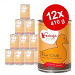 Ekonomipack: 12 x 410 g Feringa Pure Meat Menue - Lamm med potatis & kattgamander