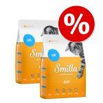 Ekonomipack: 2 x 4 kg Smilla torrfoder - Kitten