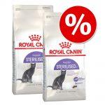 Ekonomipack: 2 x Royal Canin kattfoder till lågpris - Sterilised 12+ (2 x 4 kg)
