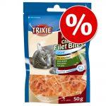 Ekonomipack: 3 x 50 g Trixie Premio Chicken Filet - Premio Chicken Filet Bites (3 x 50 g)