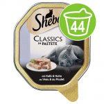 Ekonomipack: 44 x 85 g Sheba portionsform - Classics Paté Lax