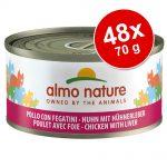 Ekonomipack: Almo Nature 48 x 70 g - Kyckling & lever