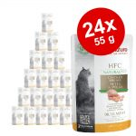 Ekonomipack: Almo Nature HFC Natural Plus 24 x 55 g - Kycklingbröst