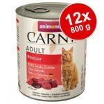 Ekonomipack: Animonda Carny Adult 12 x 800 g Kalkon, kyckling & räkor