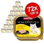 Ekonomipack: Animonda vom Feinsten för kastrerade katter 72 x 100 g - Kalkon & ost