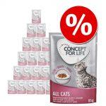 Ekonomipack: Concept for Life 24 x 85 g - Sensitive Cats i gelé
