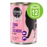 Ekonomipack: Cosma Asia in Jelly 12 x 400 g - Tonfisk & krabbkött