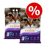 Ekonomipack: Extreme Classic kattsand till lågpris 2 x 14 kg - Lavendeldoft