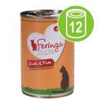 Ekonomipack: Feringa Menu Duo 12 x 400 g - Kanin & kalkon med havtorn & kattmynta