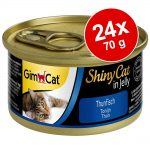 Ekonomipack: GimCat ShinyCat Jelly 24 x 70 g - Kyckling