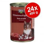 Ekonomipack: Grau Gourmet spannmålsfritt 24 x 400 g - Kanin, nötkött & anka