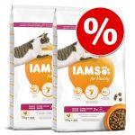 Ekonomipack: IAMS torrfoder för katter 2 x 10/15 kg for Vitality Senior Chicken (2 x 10 kg)