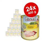 Ekonomipack: MAC's Cat kattfoder 24 x 400 g - Kalv & kalkon