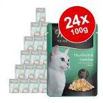 Ekonomipack: Miamor Fine Filets i portionspåse 24 x 100 g - Kyckling & tonfisk