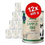Ekonomipack: Sanabelle All Meat 12 x 400 g Lamm & nötkött