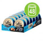 Ekonomipack: Sheba Mealtime Luxuries 48 x 80 g Skaldjur
