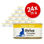 Ekonomipack: Thrive Complete 24 x 75 g - Blandpack med fisk