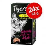 Ekonomipack: Tigeria 24 x 85 g - Kalkon & lax med sötpotatis och spenat