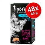 Ekonomipack: Tigeria 48 x 85 g - Kalkon & lax med sötpotatis och spenat