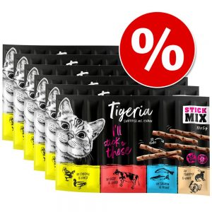 Ekonomipack: Tigeria Sticks 60 x 5 g - Kyckling & anka