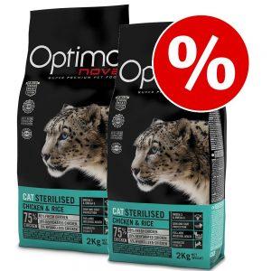 Ekonomipack: Visán Optima kattfoder - Sterilised (2 x 8 kg)