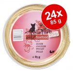 Ekonomipack: catz finefood Fillets 24 x 85 g - Blandpack