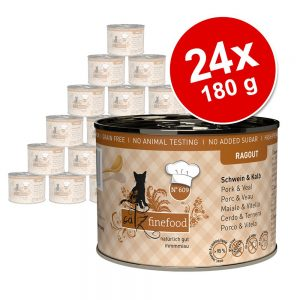 Ekonomipack: catz finefood Ragout 24 x 180 g - No. 607 Känguru & anka
