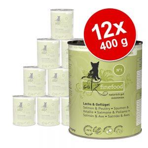 Ekonomipack: catz finefood på burk 12 x 400 g - Lamm & kanin