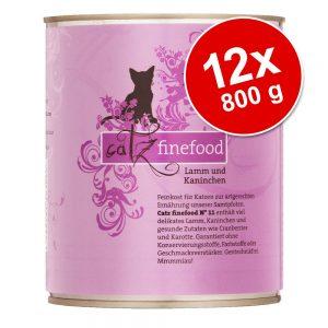 Ekonomipack: catz finefood på burk 12 x 800 g - Lax & fågel