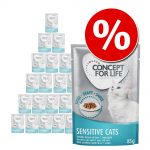 Extra lågt rabattpris! Concept for Life 48 x 85 g - Sensitive Cats - i gelé