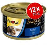 GimCat ShinyCat Jelly 12 x 70 g - Tonfisk