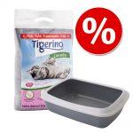 Kitten start-set: Tigerino Canada kattsand + Savic kattlåda - Tigerino Canada 6 kg + grå kattlåda