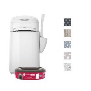 LitterLocker® Fashion kattsandhink - Ekonomipack: 2 st utbyteskassetter
