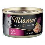 Miamor Fine Filets 6 x 100 g - Kyckling & ris i gelé