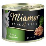 Miamor Fine Filets 6 x 185 g - Tonfisk & räkor i gelé